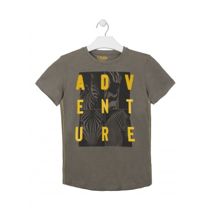 Camiseta Losan niño Adventure manga corta