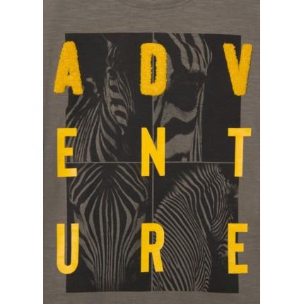 Detalle estampado Camiseta Losan niño Adventure manga corta