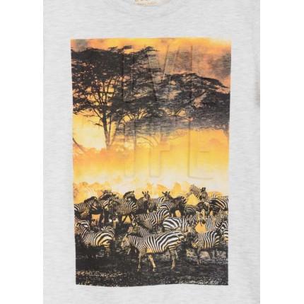 Detalle estampado Camiseta Losan niño Life manga corta