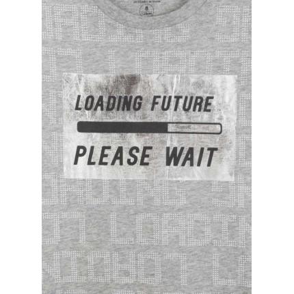 Detalle estampado Camiseta Losan niño Loading Future manga corta