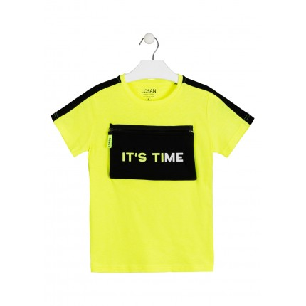 Camiseta Losan niño It's Time manga corta