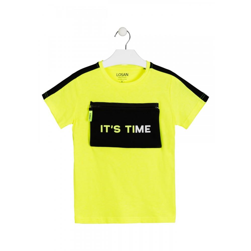 Camiseta Losan niño It's Time manga corta