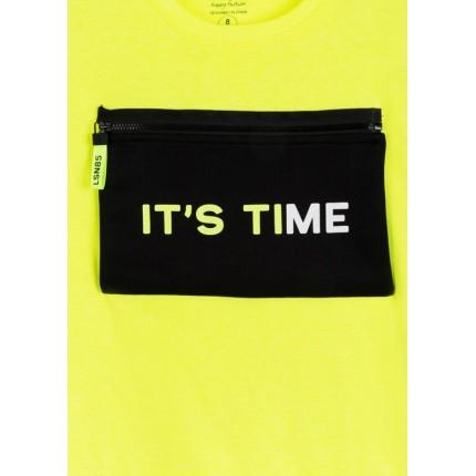Detalle cremallera Camiseta Losan niño It's Time manga corta