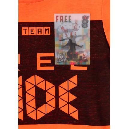 Detalle estampado Camiseta Losan niño Free Ride manga corta