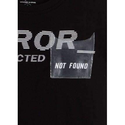 Detalle bolsillo transparente Camiseta Losan niño Not Found manga corta