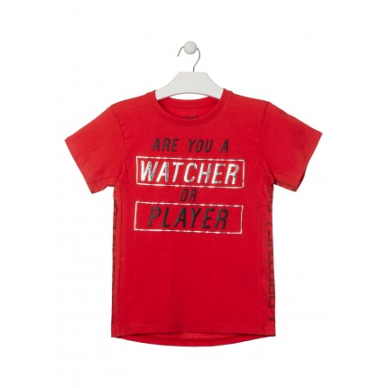 Camiseta Losan niño Are you a Watcher or Player manga corta