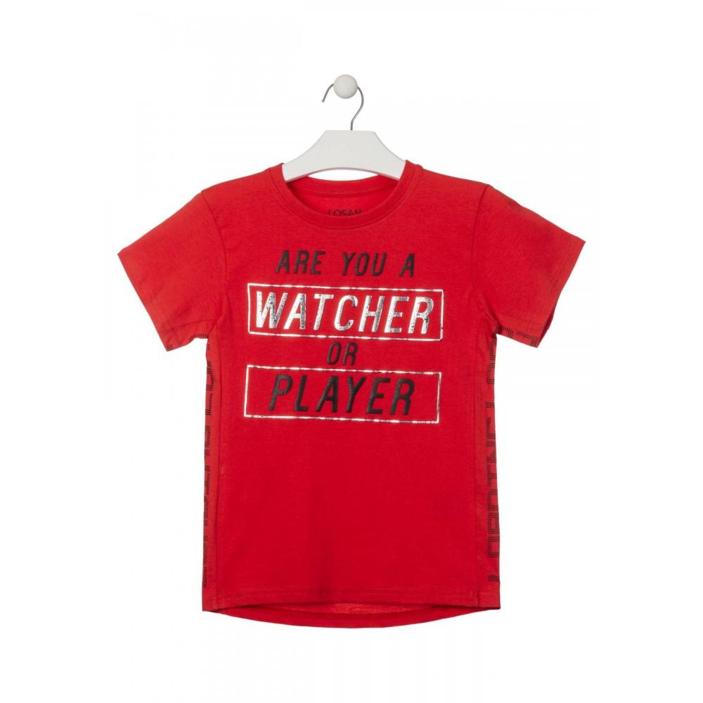 Camiseta Losan niño Are you a Watcher or Player manga corta