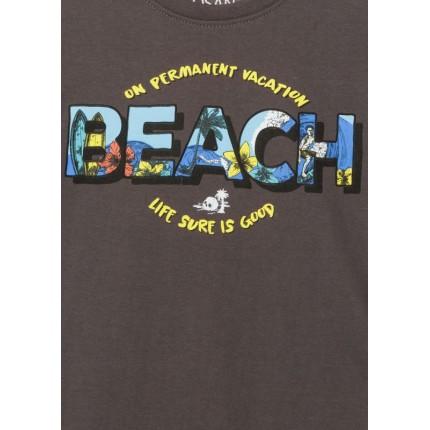 Detalle estampado Camiseta Losan niño Beach manga corta