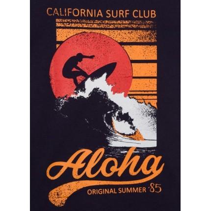 Detalle estampado Camiseta Losan niño Aloha manga corta
