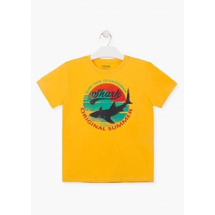 Camiseta Losan niño Shark manga corta