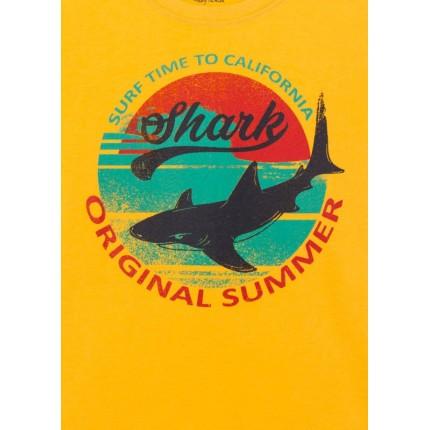 Detalle estampado Camiseta Losan niño Shark manga corta