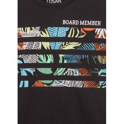 Detalle estampado Camiseta Losan niño Board Member manga corta