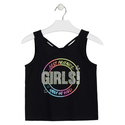 Camiseta Losan niña junior GIRLS! sin mangas