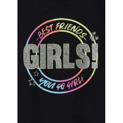 Detalle estampado Camiseta Losan niña junior GIRLS! sin mangas