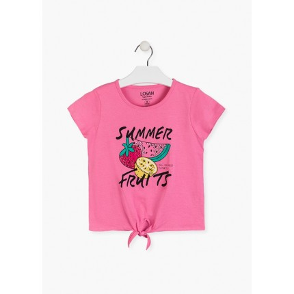 Camiseta Losan niña junior Summer Fruits manga corta