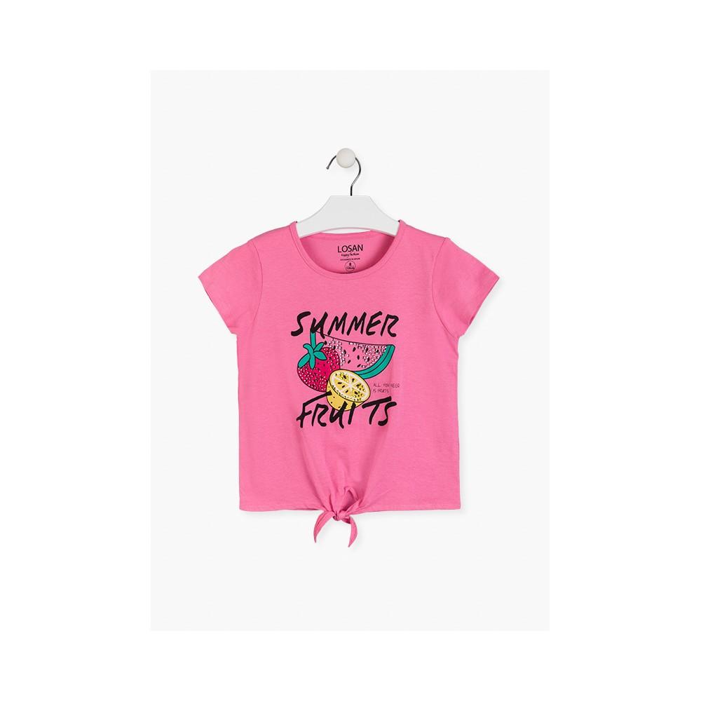 Camiseta Losan niña junior Summer Fruits manga corta