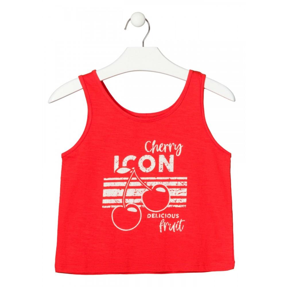 Camiseta Losan niña Cherry Icon tirantes