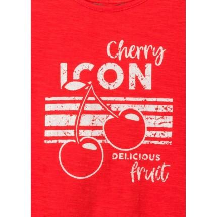 Detalle estampado Camiseta Losan niña Cherry Icon tirantes