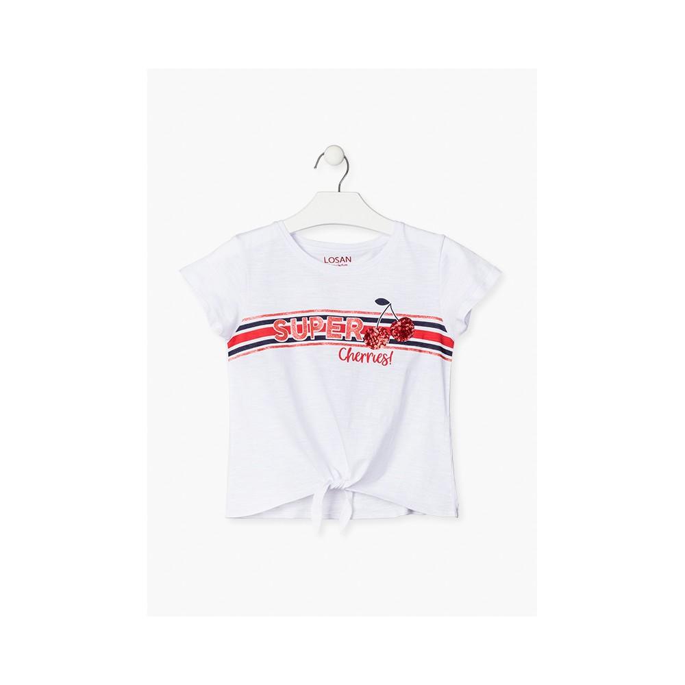Camiseta Losan niña junior Super Cherries! manga corta