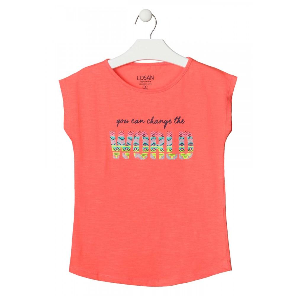 Camiseta Losan niña junior WORLD sin mangas