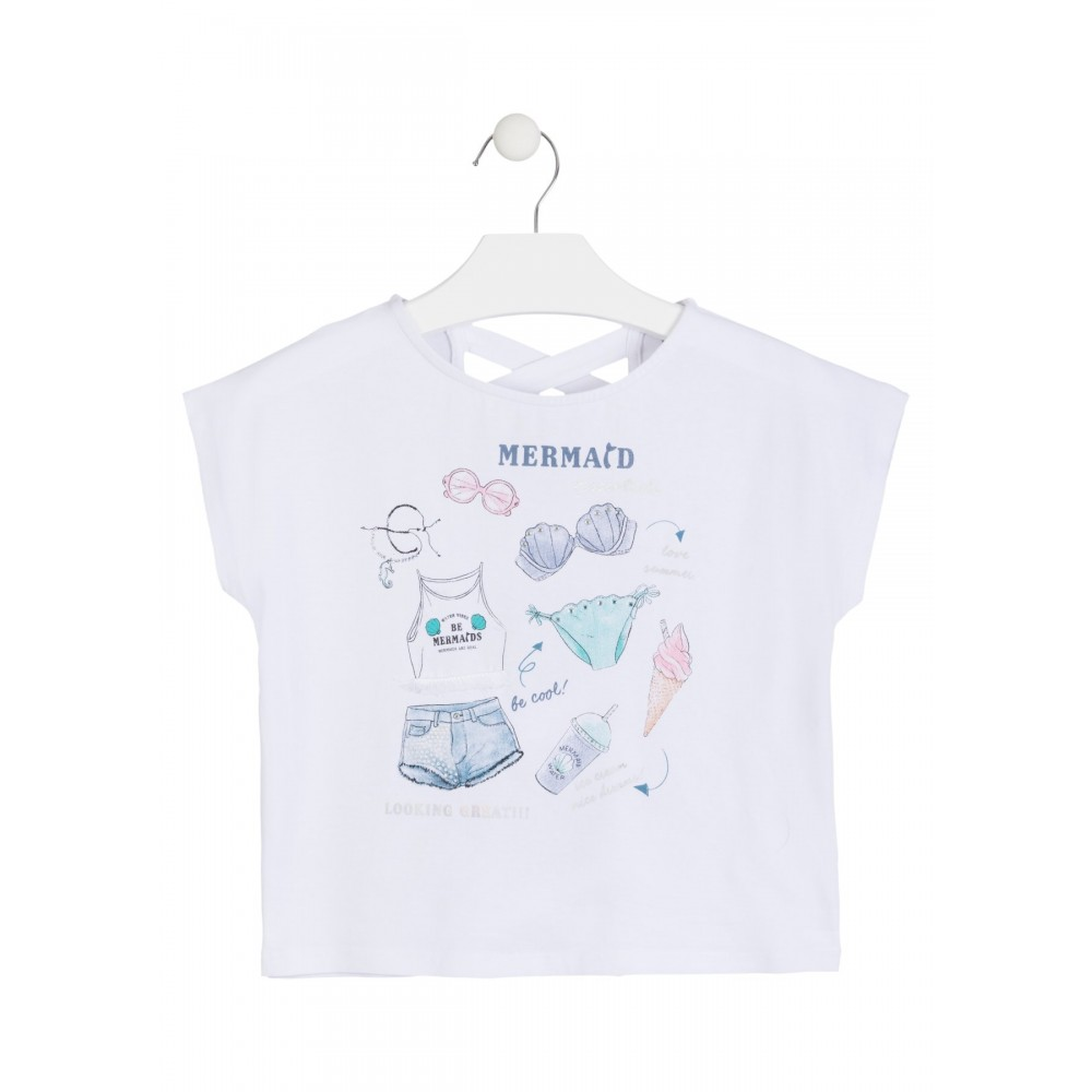 Camiseta Losan niña junior Be cool! manga corta