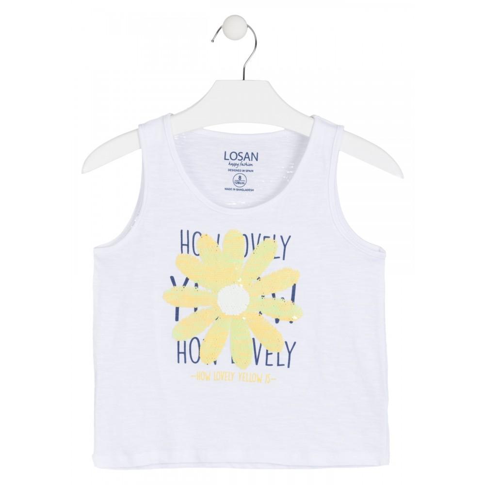 Camiseta Losan niña junior Margarita tirantes