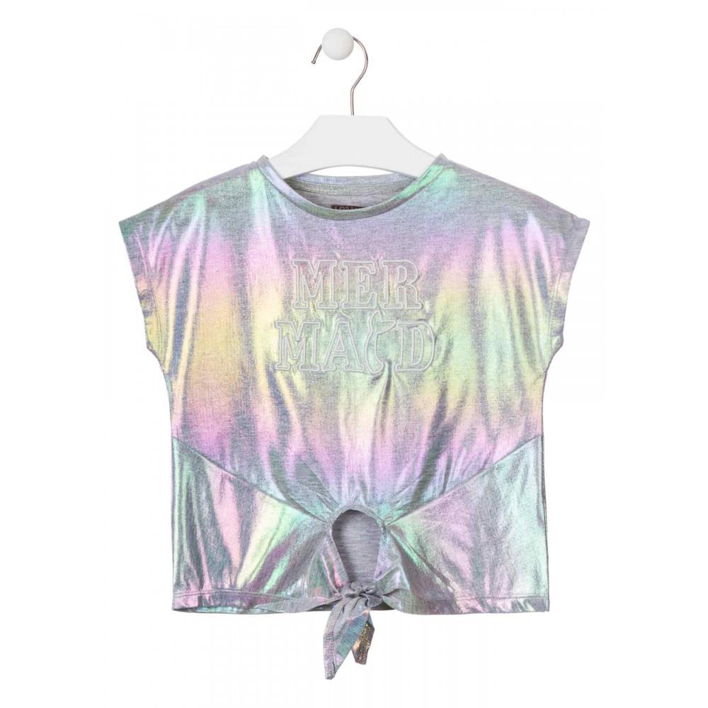 Camiseta Losan niña junior Brillante anudada