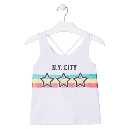 Camiseta Losan niña junior N.Y. CITY tirantes
