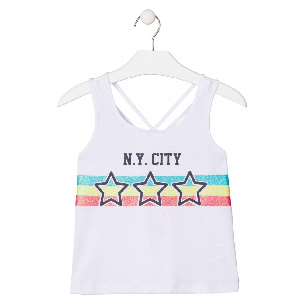 Camiseta Losan niña junior N.Y. CITY tirantes
