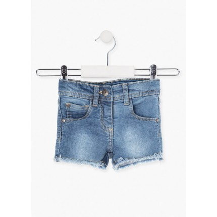Short Denim Losan niña junior desilachado