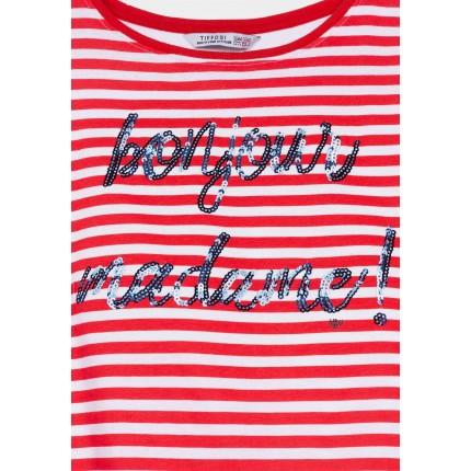 Detalle Camiseta Tiffosi Kids Mami niña Rojo