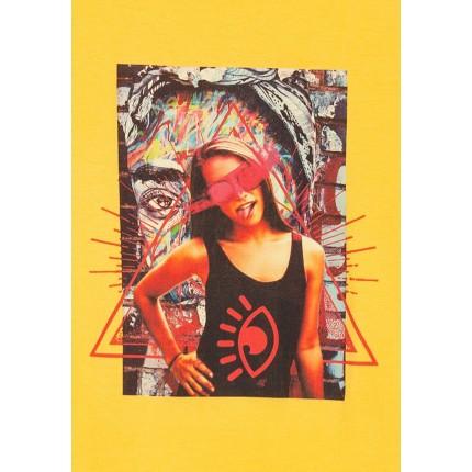 Detalle estampado Camiseta Tiffosi Kids Audrey niña Amarillo