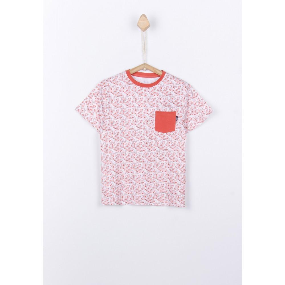 Camiseta Tiffosi Kids Boards niño manga corta naranja