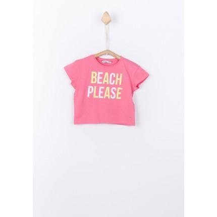 Camiseta Tiffosi kids Beli niña manga corta rosa