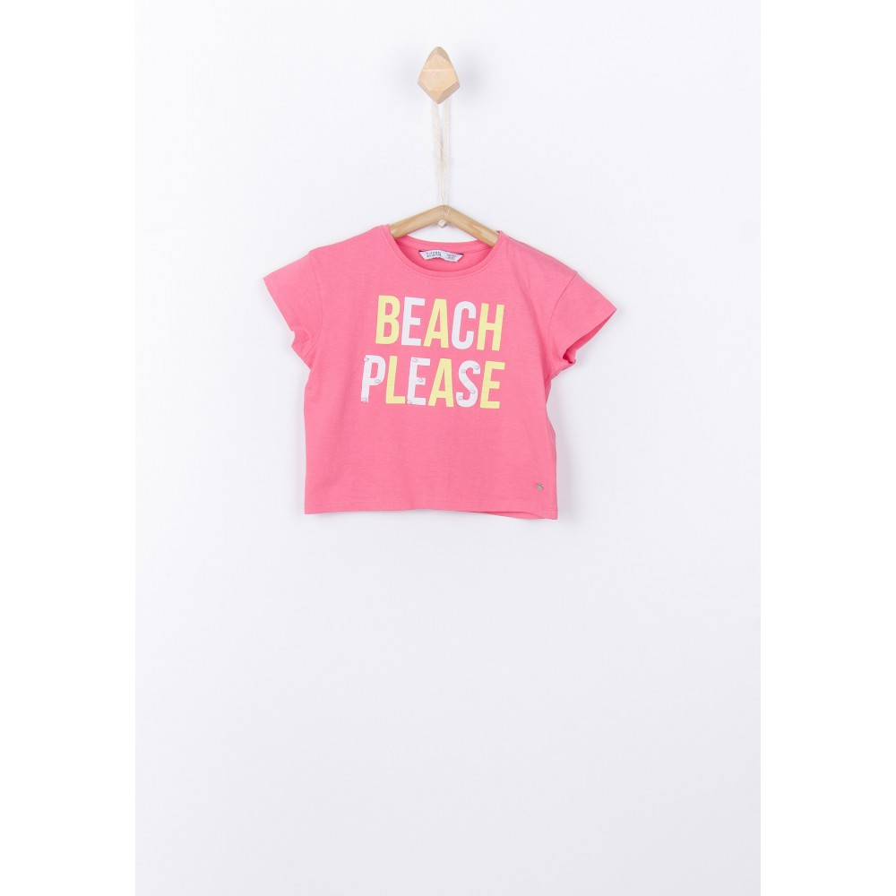 Camiseta Manga Corta largas Aberturas Laterales Mujer by Vencastyle 013353