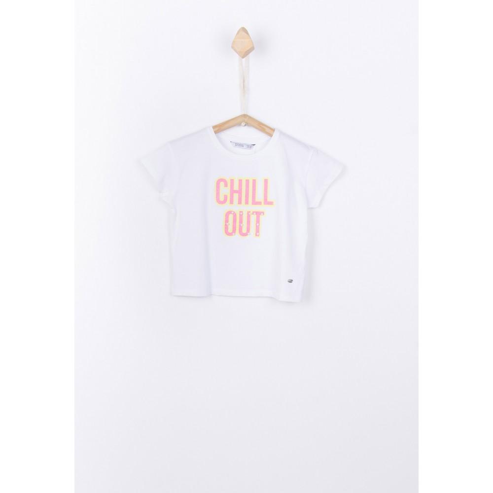 Camiseta Tiffosi kids Beli niña manga corta blanco