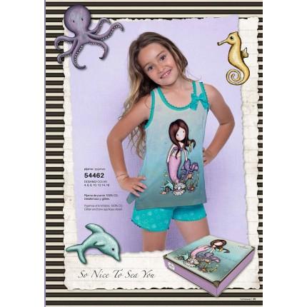 Pijama Gorjuss niña Santoro So nice to sea you Tirantes
