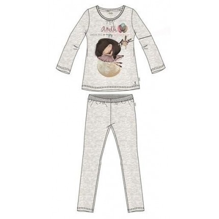 Pijama Anekke niña manga larga
