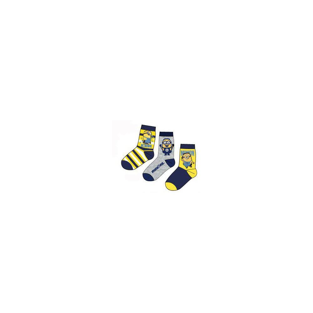 Calcetín Minios niño pack de 3 combinación rayas
