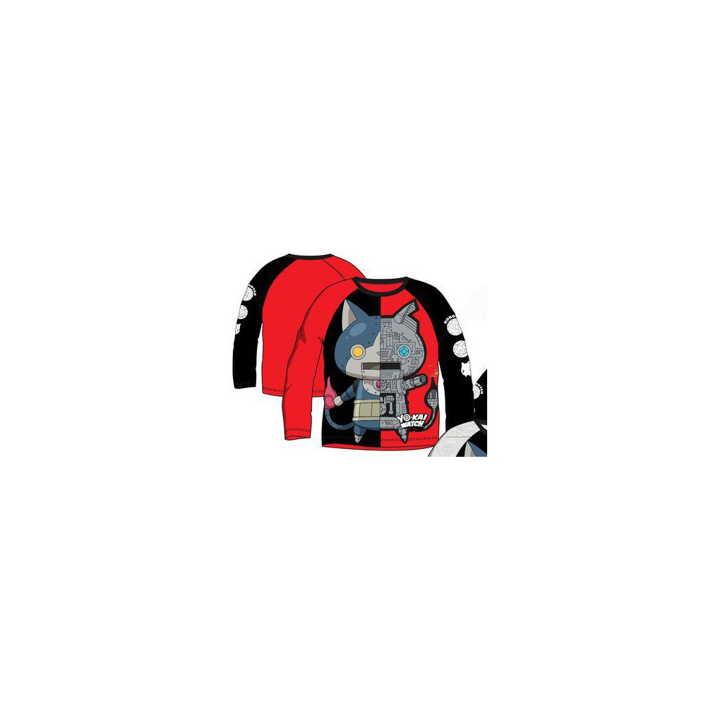Camiseta Yokai Watch niño manga larga Rojo