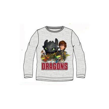 Camiseta Dragons niño manga larga Gris vigore