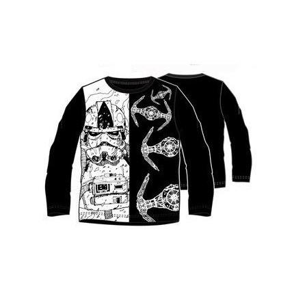 Camiseta Star Wars niño manga larga negro