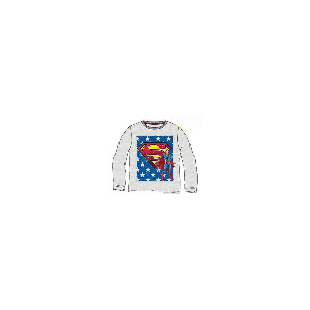 Camiseta Superman niño manga larga Gris vigore