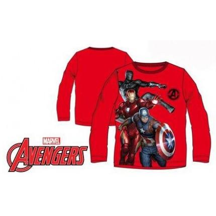 Camiseta Vengadores niño manga larga rojo