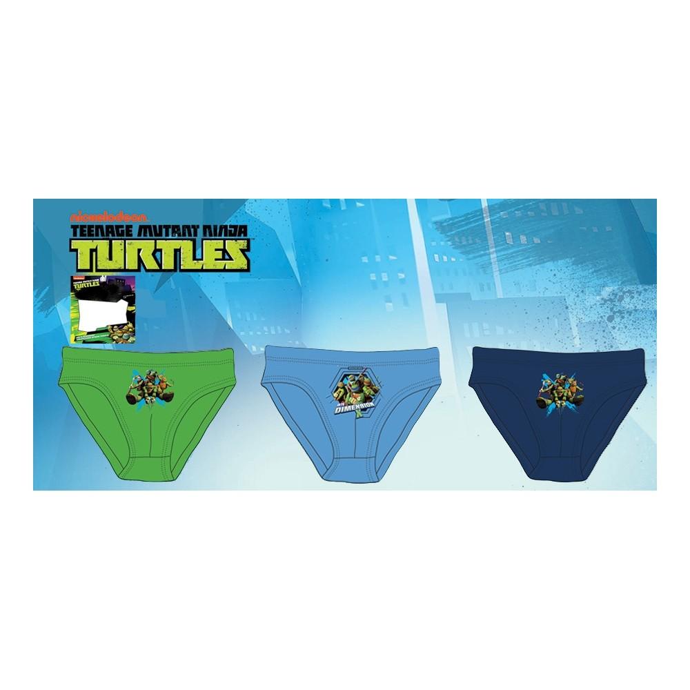 Slips Tortugas Ninja niño pack de 3