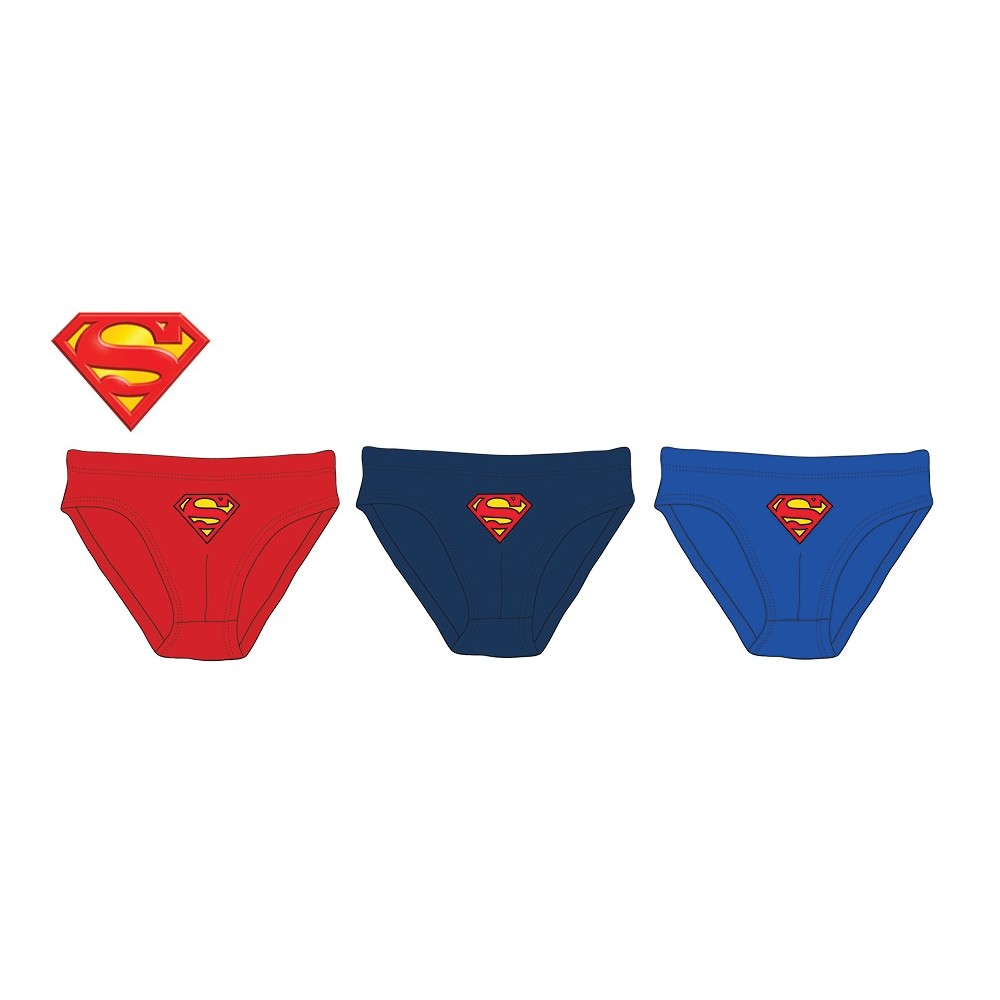 Slips Superman niño Escudo pack de 3