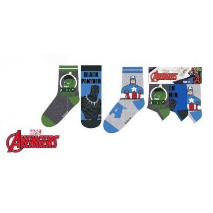 Calcetines Avengers niño pack de 3 Hulk Dark Panther Capitán América