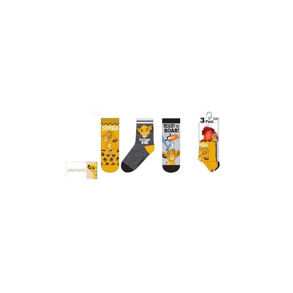 Calcetines REY LEÓN Pack de 3 infantil amarillo