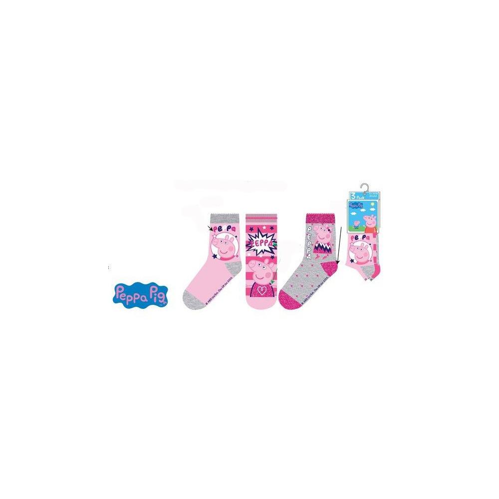 Calcetines Peppa Pig Pack de 3 niña infantil combinación 1