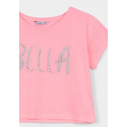Detalle estampado Camiseta Tiffosi Kids Daisy niña junior corta